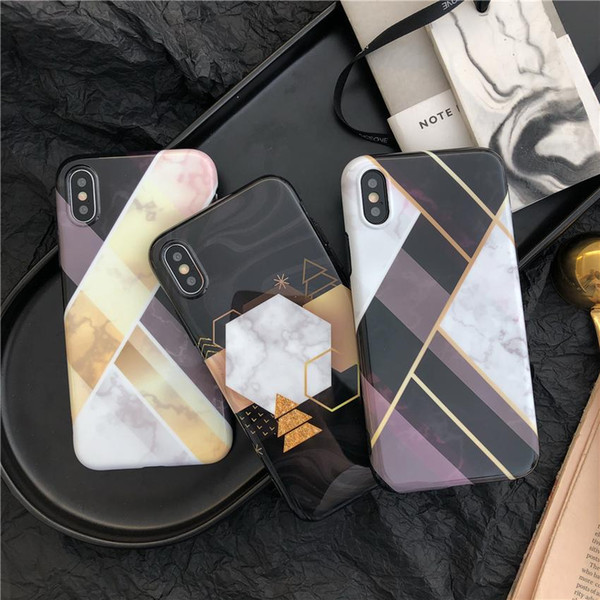 2018 New Design Fashion IMD Marble Case Soft TPU Mobile Phone Cases for iPhone X 6 6S 7 8 Plus DHL Free Shipping