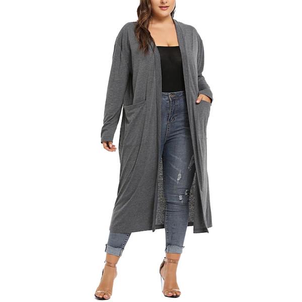 Usps Lange Strickjacke Jacke Plus Winter Frauen Öffnen Größe Langarm Vorne Asymmetrische Dropshipping927 Dicke Wasserfall Großhandel Drape Mantel UpSMGzLqV