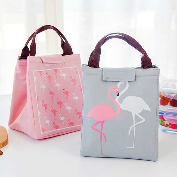 Fashion 4 Colors Flamingo Insaluted Lunch Box Bags Dinner Plate Sets Handbags Travel Gadgets Closet Organizer Kitchen Accessories Home Decor