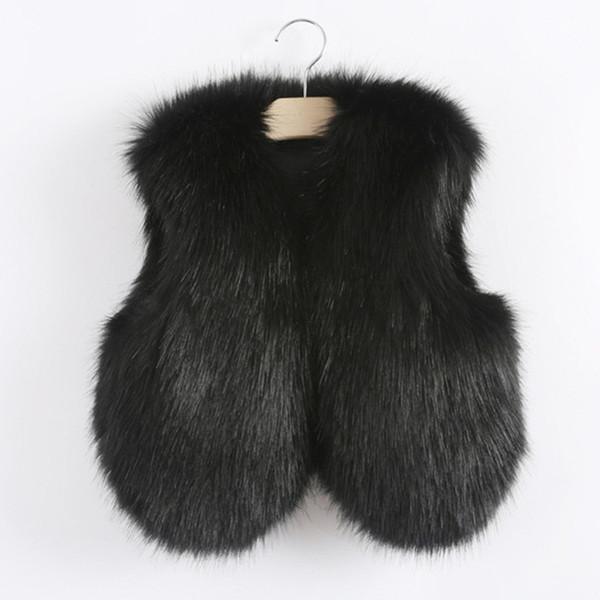 Faux Fuchspelz Weste für Kinder Kinder Baby Mädchen Jungen Herbst Winter dicke Baumwolle sehr warme Wolle Oberbekleidung Mode gute Qualität 2018 Y18102608