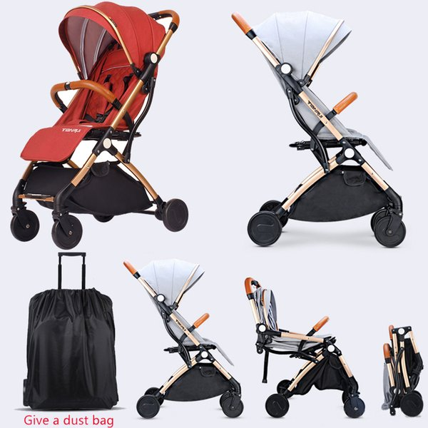 Baby Stroller Foldable Pull rod stroller portable Baby carriage infant Can sit lie down for Unisex Babies pram Lightweigh