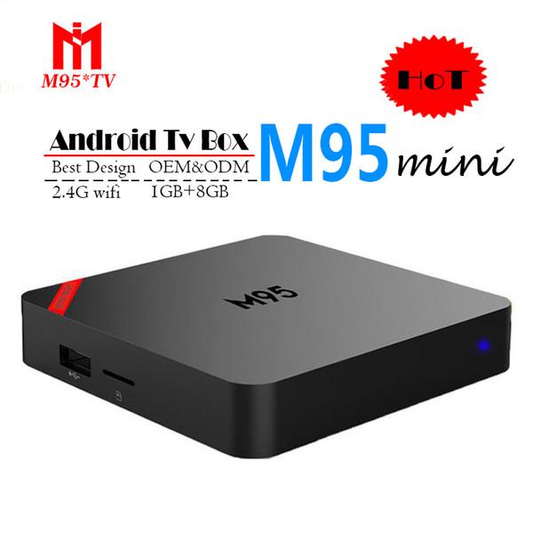 2018 Cheapest M95 MINI Android 7.1 Tv Box Quad Core 1GB 8GB H3 Chip Support Wifi 4K 3D Media Player Smart Tv Box Bet MXQ PRO X96 S905W