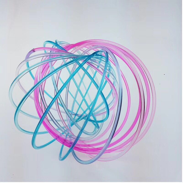 best selling new plastic Stee Toy Magic Toroflux Flow Flow Ring Toys Kinetic Spring Toy Funny Outdoor Game Intelligent Toy