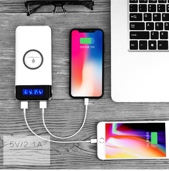 10000mah PowerBank External Battery Quick Charge Wireless Charger Powerbank Portable Mobile Phone Charger for iPhone x 8 8Plus with packing
