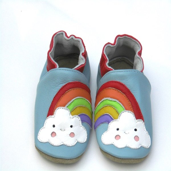 Guaranteed 100% soft soled baby shoes Genuine Leather baby boy shoes booties for new born sheepskin first walkers