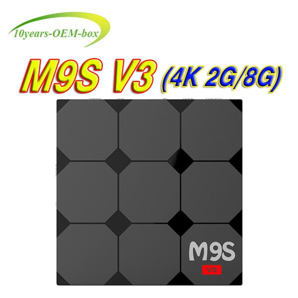 Rockchip RK3229 M9S V3 4K Android Box Quad Core Android 6.0 OTT TV Box 2gb 8gb Bluetooth WiFi HDMI 4K Google Smart Media Player