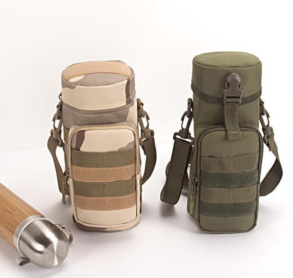 Al aire libre Molle Bolsa de botella de agua Tactical Gear Caldera Cinturón Bolso para los fanáticos del ejército Escalada Camping Senderismo Bolsas DDA627