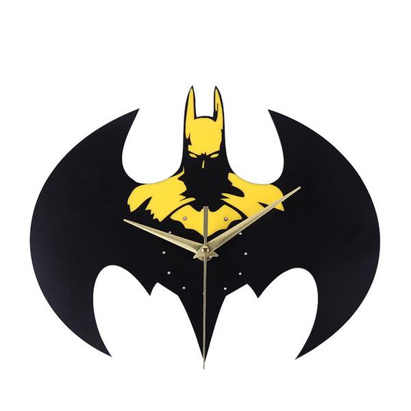 Creative Film Bat DIY Wall Clock Cartoon Animal Acrylic Clock Wall Quartz Table