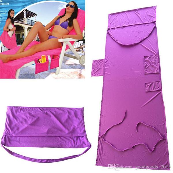 Chair Beach Towel 210x73cm Microfiber Fiber Sunbath Lounger Bed Lounger Mate Holiday Leisure Garden Beach Towels Serviette c488