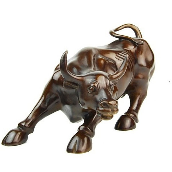 Copper production Charging Bull creative gifts 2018 Lucky ornaments stock market and business home office decoration feng shui
