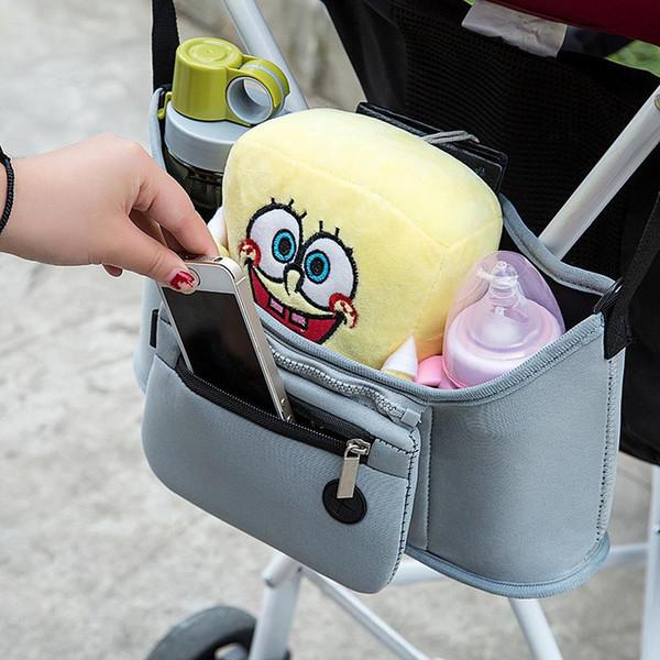 New Baby Stroller Storage Bag Pockets Waterproof Insulation Admission Mummy Bag