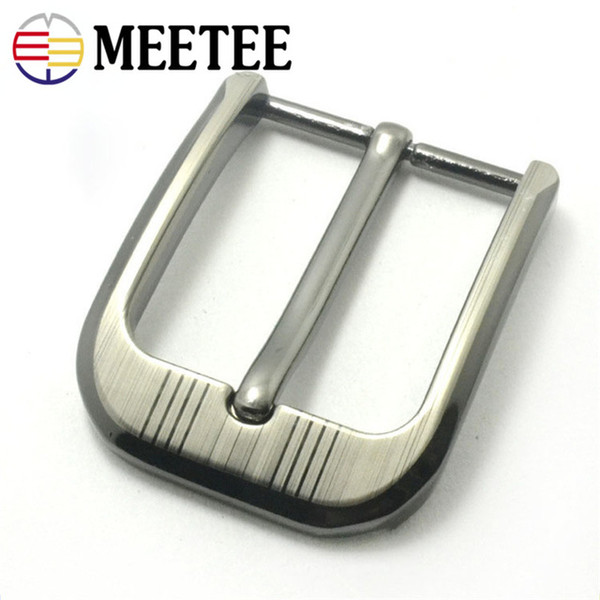 Meetee 40mm Hot Sale Men Belt Buckle Alloy Pin Buckle DIY Buckle Head Accessories Clothing Jeans Belt Decoration YD012