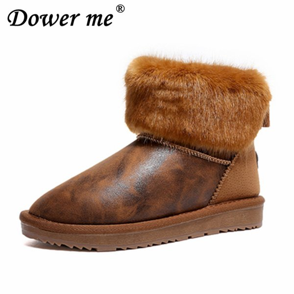 2019 Fashion New Platform Ladies Footwear plush Boots lady Mujeres Botas Women Suede Winter snow boots Warm Cotton-padded shoes
