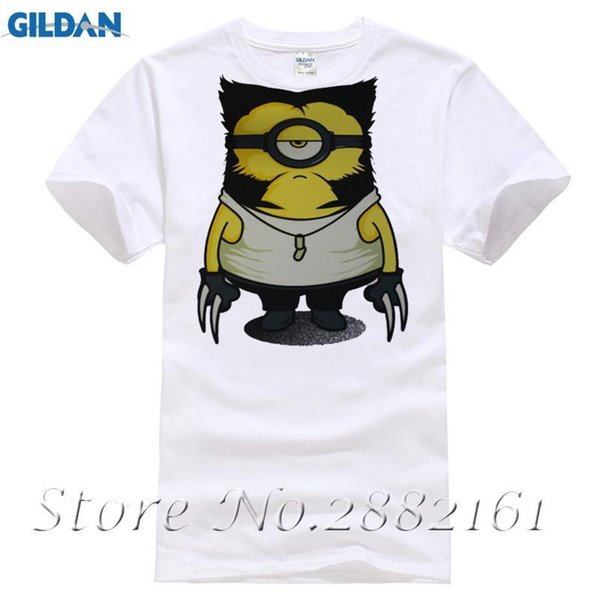 2017 New Arrivals Funny Wolve Minions Design T shirt Hipster Tops customize Printed Short Sleeve Tees