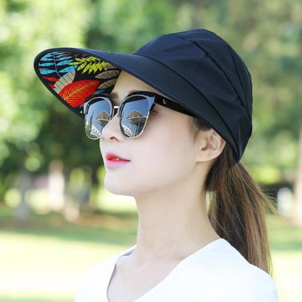 Women Bardian Pearl Leaf Fold Sun Hat UV Protection Breathable Cotton Lightweight Sunscreen Visors For Summer 7 2xy dd