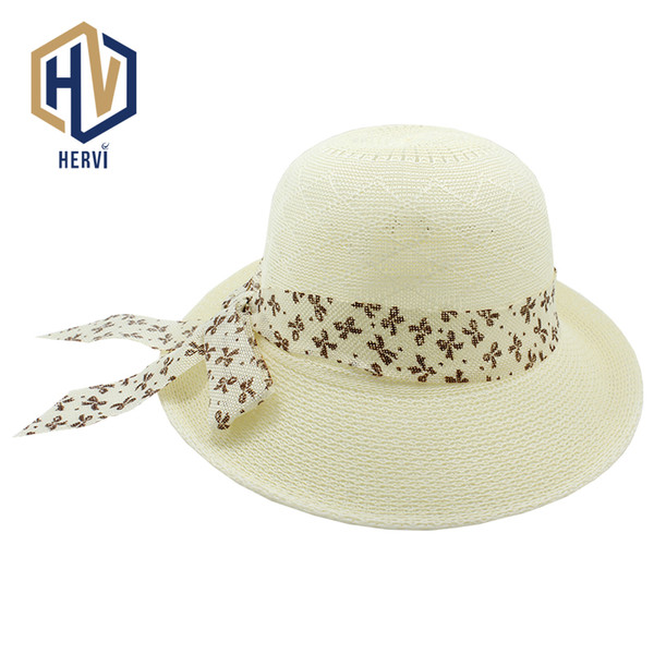 2018 Dropshipping Tops Branded Lady Casual Straw Hat Women s Fashion Summer  Topi Cap Beach Female Solid Cap Wholesale HNS10-A 52ef489f5676