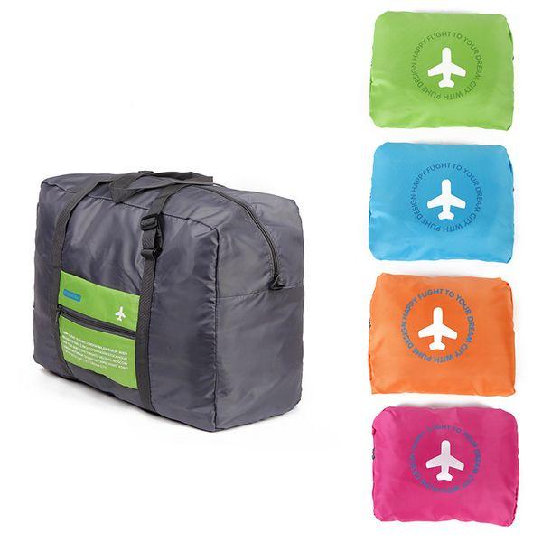 Hot Sale Foldable Nylon Suitcase Hand Luggage Cabin Small Wheeled Travel Folding Flight Bag Large Capacity Case Travel Insert Handbag