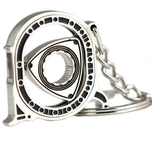 Rotor Keychain Hot Auto Parts Model Silver Engine Rotary Keyring New Key Ring Chain Keyfob Key Holder
