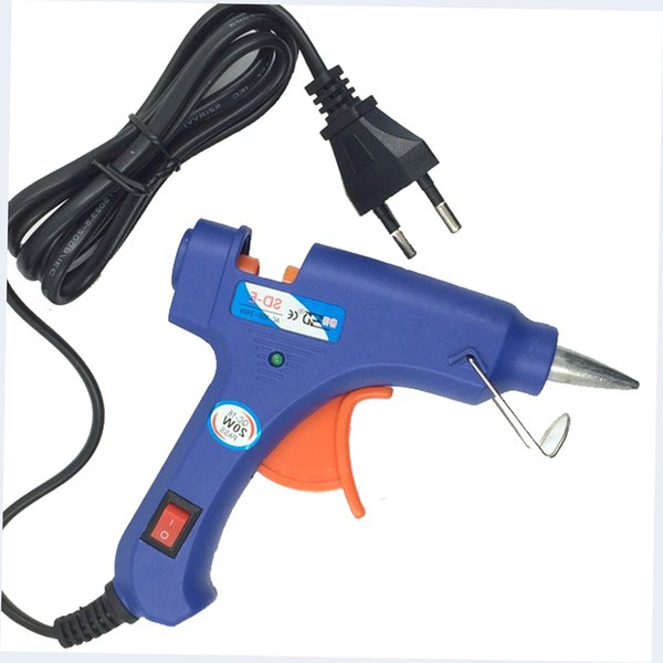 Calentador profesional de alta temperatura 20W pistola de pegamento caliente Reparación herramienta de calor SpraProfessional Calentador de alta temperatura 2y pistola con 1pcs Hot Melt Sticks pegamento