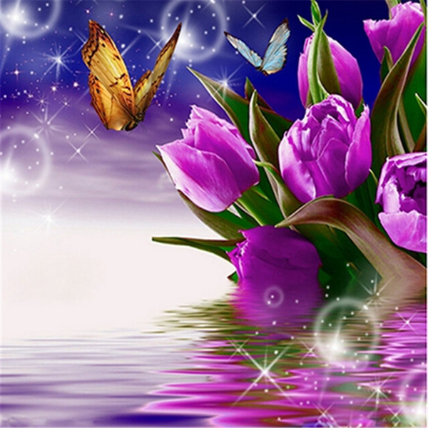 5D Diy Diamant Malerei, Diamant-Stickerei, Dekoration, Kunsthandwerk, Mosaik, Kreuzstich, Landschaft, Blumen, Sterne, Schmetterlinge