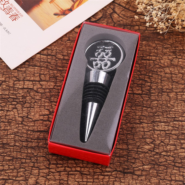 Forniture di nozze Kirsite Tappo vino Double Happiness Bottiglie di vino rosso Bottiglie Regalo Originalità Utensili da cucina 3 8gy Ww