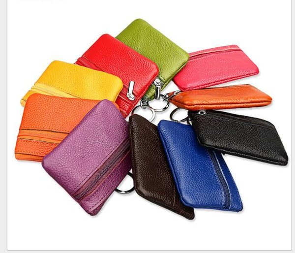 3f37f5f9e76 2018 PU Leather Coin Purses Women'S Small Change Money Bags Pocket Wallets  Key Holder Case Mini Pouch Double Zipper Popular Fashion Bag Wholesale ...