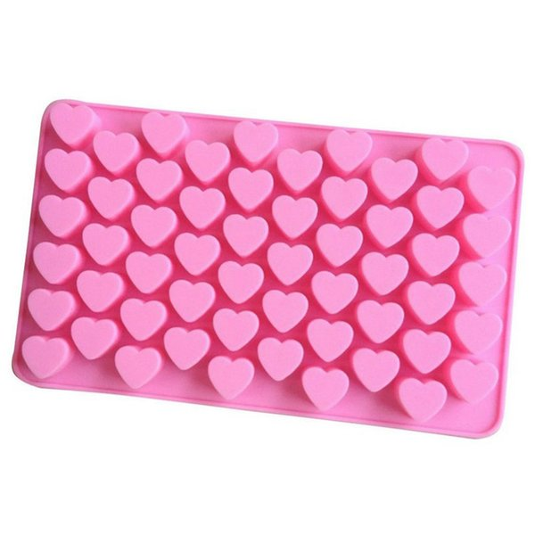 Heart-shaped Silicone Chocolate Mold DIY Cake Decorate Accessories - Small Candy Ice Cube Jelly Pudding Chocolates Mould