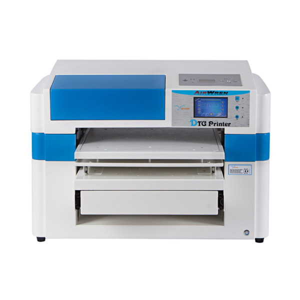 A2 size dtg inkjet digital textile flatbed printer for clothes printing machine
