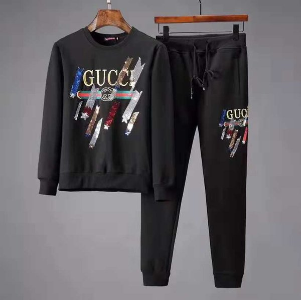 Black couple suit designer jacket casual sweatshirt letter print pattern men's running clothes sportswear men free shipping