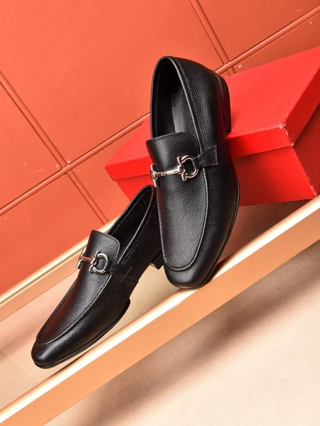 New Style Handmade Men Genuine Leather Shoes Classic Brand Designer Formal Party Dress Shoes Zapatos Hombre Size 38-44
