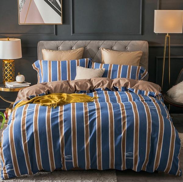 100% cotton duvet cover set queen/king bed linen girl boy bedding set soft and comfortable pillow cover