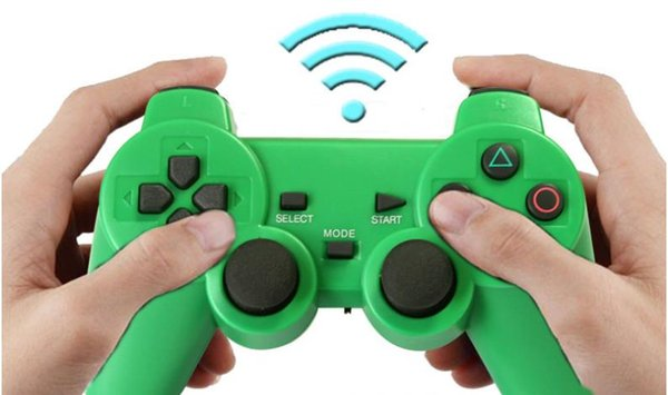 2.4G wireless controller PS2, wireless game controller double vibration, can turn computer PC universal color transparent handle