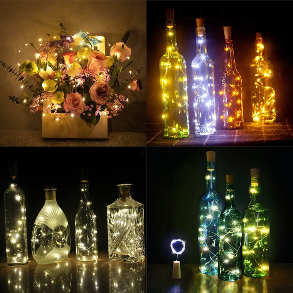 Hot Sale LED Lamp String Button Battery Operated LED Lights Copper Wire String Light Christmas Halloween Decoration Wedding Party Decor