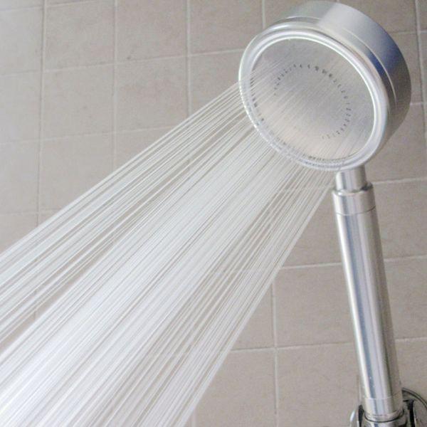 Space Aluminum Pressurized Water Saving Shower Head Hand-held Shower Head Saving 50% Water alloy aluminum nozzle