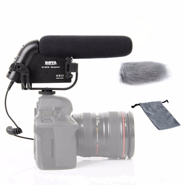 BOYA BY-VM190 Video Condenser Interview Microphone On-Camera Recording Mic for Canon for Nikon Sony Pentax DSLR Cameras