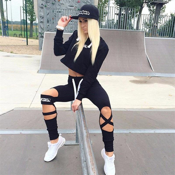 Daddy Chen Running Sets Women Yoga Sets Autumn Winter Tight Jumpsuits Sports Female Gym Fitness Clothing Suit Women Running Set