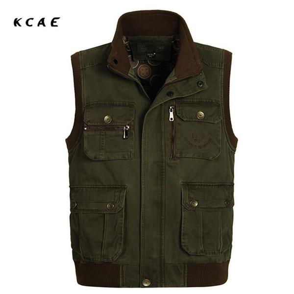 2015 Hot Sale Autumn Casual Vest, Men's Vest, Mens Sleeveless Jackets Photographers Vest Plus Size XL-XXXXL