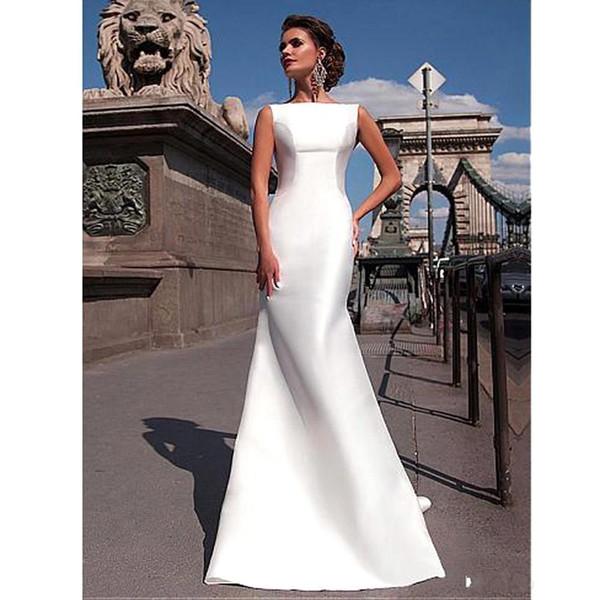 Großhandel Simple Style Günstige Mermaid Brautkleider 2018 New ...