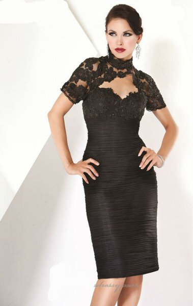 Free Shippingsheath Short Sequin Short Sleeve High Neck Prom Dress Evening Gowns 2018 New Arrival Custom Made Plus Size 18w