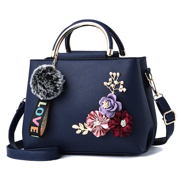 Bolsos portátiles 2018 nueva simulación estera del aro de flores hombro bolsa de mensajero bolsas de las señoras