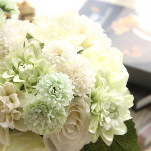 Elegant white green