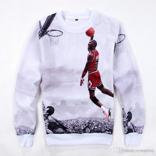 Men ' ;S Sports Hoodies Michael Basketball Superstar 3d Printing Hoodies Fashion Casual Round Collar Sweatshirt Long Sleeve Tees Fre