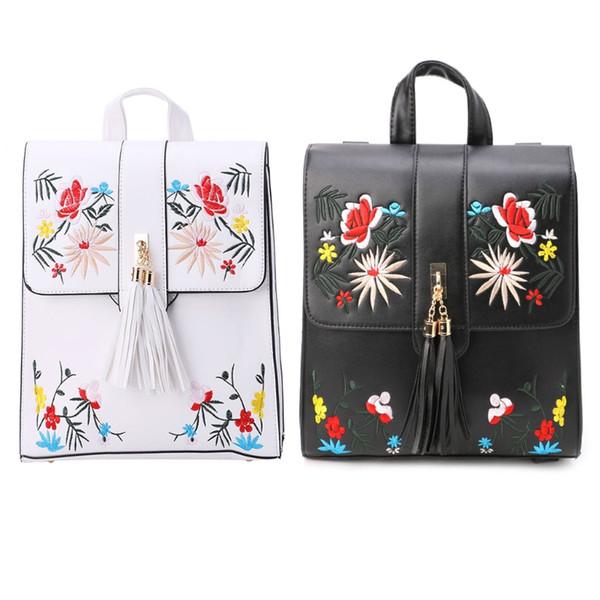 Sac à bandoulière sac à bandoulière sac à bandoulière voyage de femmes fleur broderie sac à dos