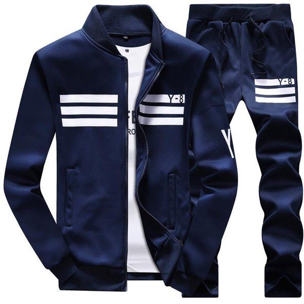 Men Sportswear Hoodie And Sweatshirts Black White Spring Autumn Jogger Sporting Suit Mens Sweatsuits Tracksuits Set Plus Size M -4