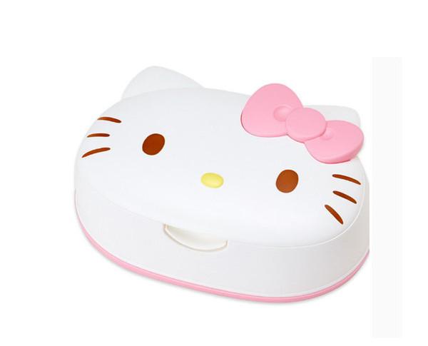 Hello kitty cute tissue box cartoon napkin holder Good moisturizing effect