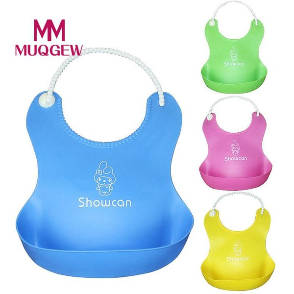 MUQGEW Hot Sale Baby Infants Kids Cute Soft Silicone easy-washed Bibs baberos de silicon bibs for children