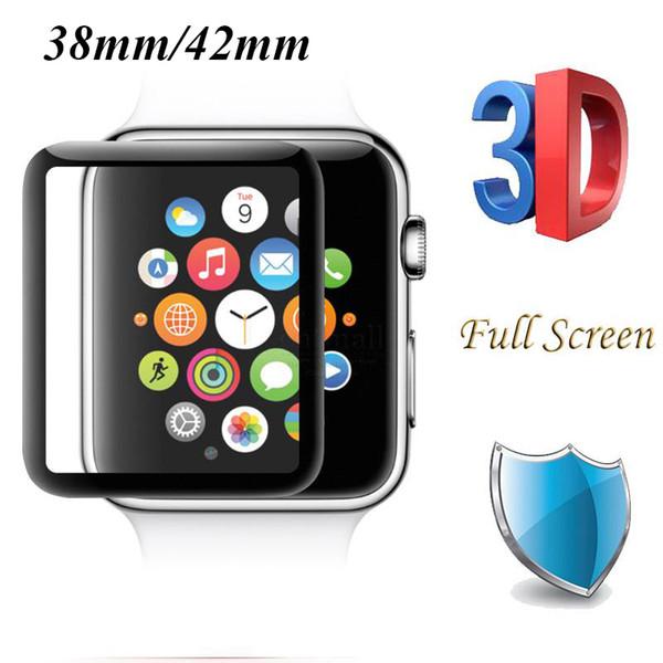 Apple Watch için iWatch Kaplama Temperli Cam 40mm 44mm 38mm 42mm Serisi 4 3 2 1 Tam Kapak 3D Kavisli Siyah Kenar Ekran Koruyucu Film