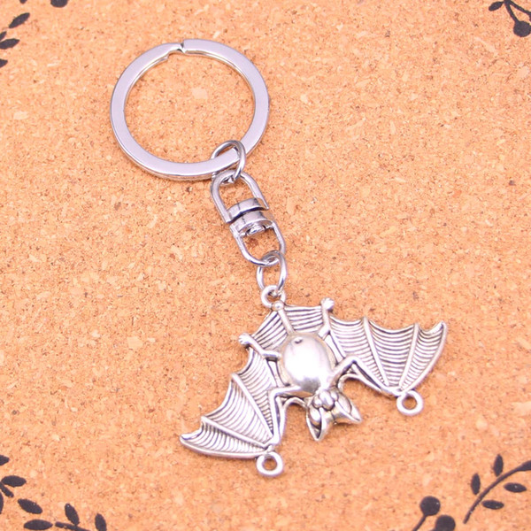 New Fashion Keychain 29*47mm bat vampire dracula connector Pendants DIY Men Jewelry Car Key Chain Ring Holder Souvenir For Gift