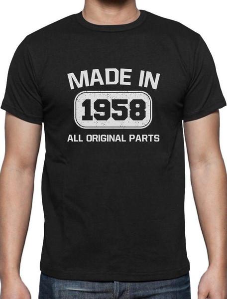 1958 yılında yapılan tüm orijinal parçalar 60th doğum günü hediyeleri t-shirt emeklilik hediye