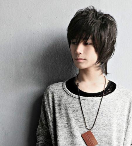 Yakışıklı Erkek Peruk Yeni Kore Moda Kısa Erkekler Doğal Siyah Saç Cosplay Peruk